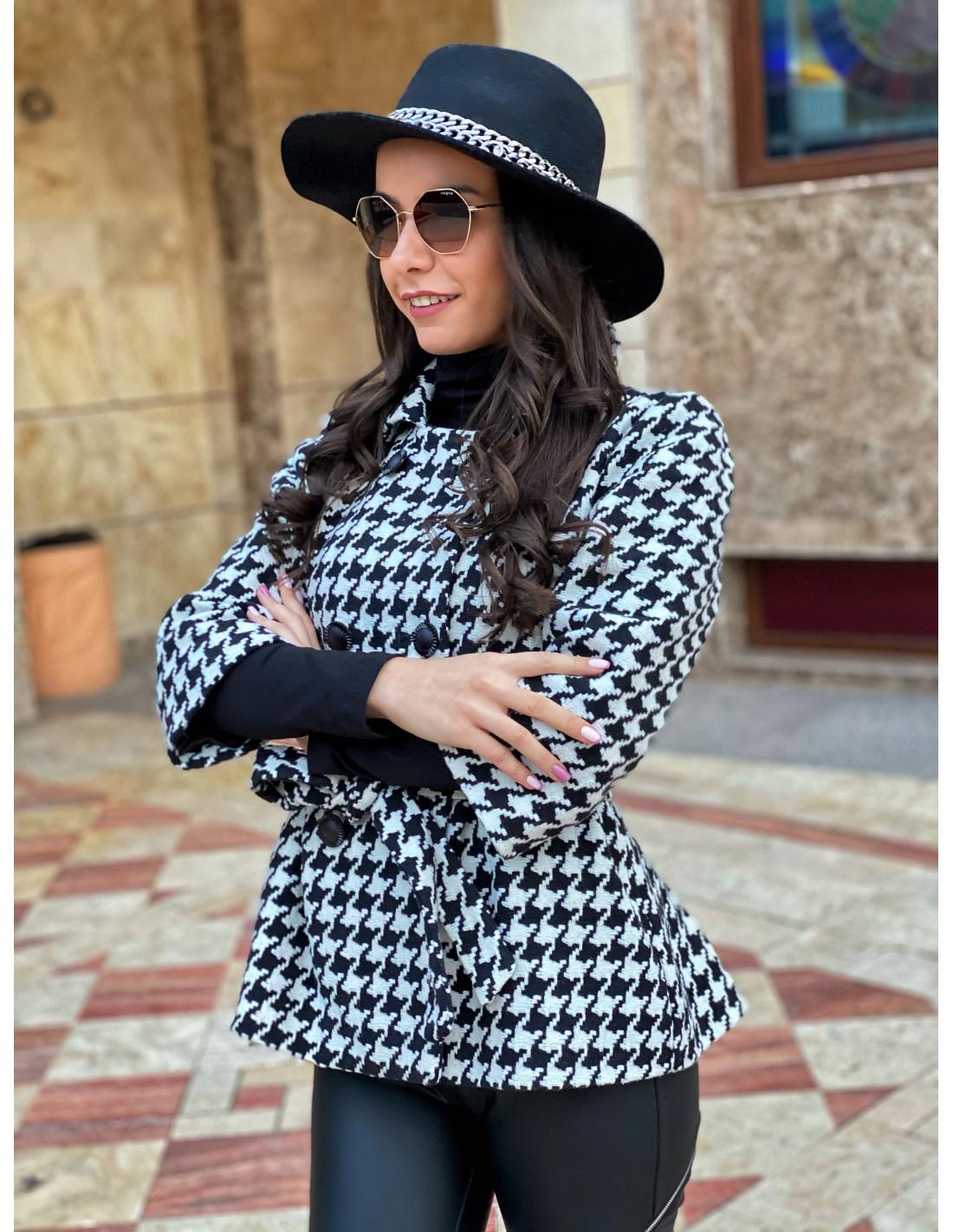 Дамско палто Black & White
